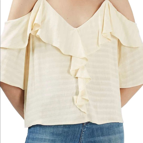 6a2e6b521aa604 Topshop ruffle off the shoulder top blouse